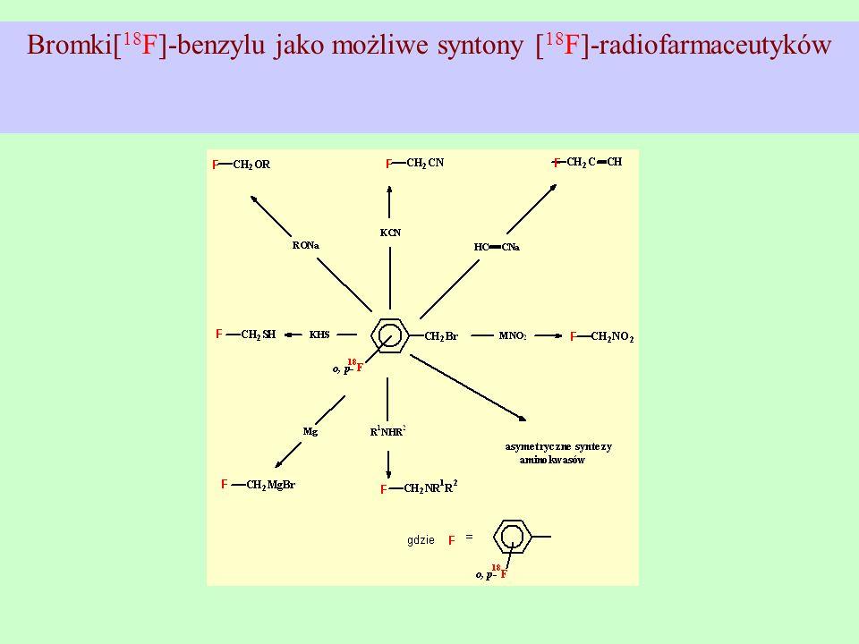 Bromki[18F]-benzylu jako możliwe syntony [18F]-radiofarmaceutyków